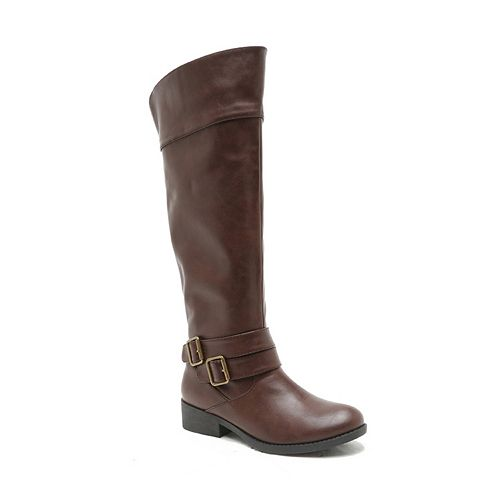 Qupid Plateau Women's Fold-Down Knee-High Riding Boots