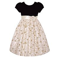 Girls 7-16 American Princess Velvet Glitter Dress