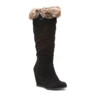 Qupid Noya Women's Wedge Knee-High Boots