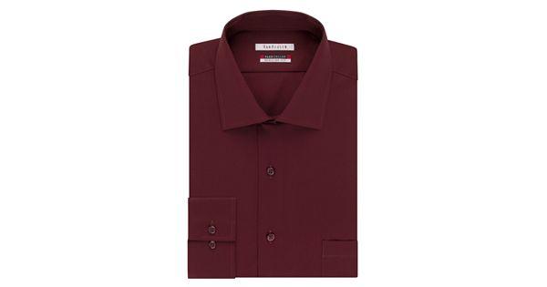 Big tall van heusen flex collar dress shirt for Van heusen shirts flex collar