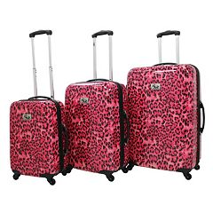 Chariot Leopard 3 pc Hardside Spinner Luggage