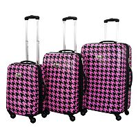 Chariot Bird Houndstooth 3 pc Hardside Spinner Luggage