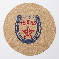Celebrate Local Life Together Round Jute Texas Placemat