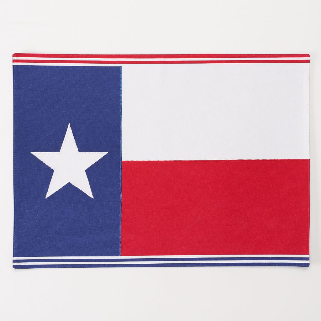 Celebrate Local Life Together Texas Flag Placemat