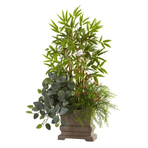 nearly natural Artificial Mixed Mini Bamboo Arrangement