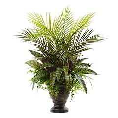 nearly natural Artificial Mixed Areca Palm Arrangement