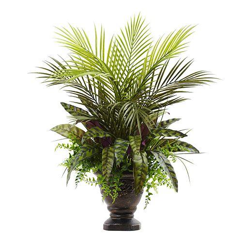 nearly natural Artificial Mixed Areca Palm Arrangement