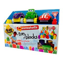 Kids at Work Auto Shellz 80-Piece Ton of Blocks Set by Amloid