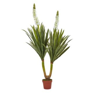 nearly natural Artificial Flowering Yucca Plant