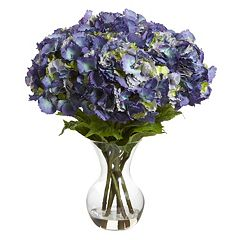 nearly natural Artificial Large Hydrangea Arrangement