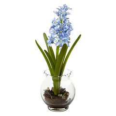 nearly natural Artificial Hyacinth & Birds Nest Arrangement