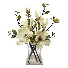 nearly natural Artificial Magnolia Arrangement
