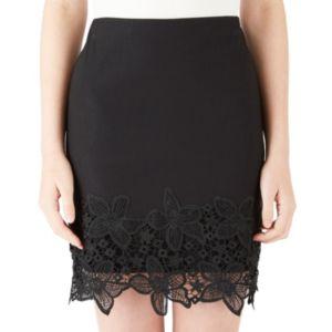 Juniors' IZ Byer California Lace-Trim Pencil Skirt