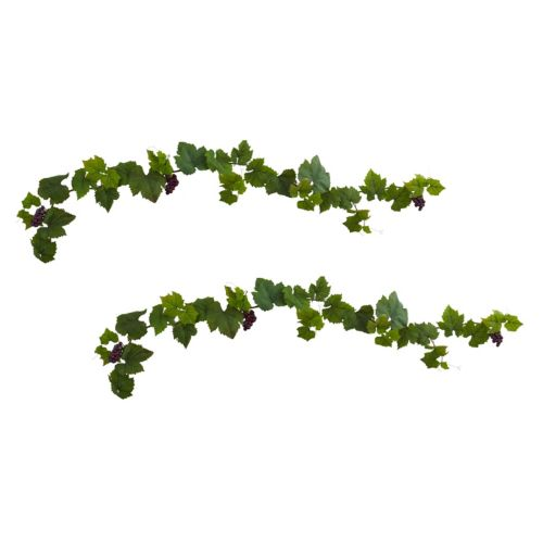 nearly natural Artificial Grape Leaf Deluxe Garland 2-piece Set