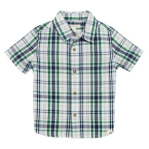 Baby Boy Burt's Bees Baby Plaid Organic Shirt