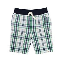 Baby Boy Burt's Bees Baby Plaid Organic Shorts