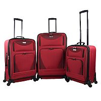 Travelers Club Sky-View 2.0 3 pc Spinner Luggage Set