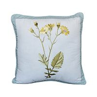 Always Home Josephine Yellow Floral Square Throw Pillow