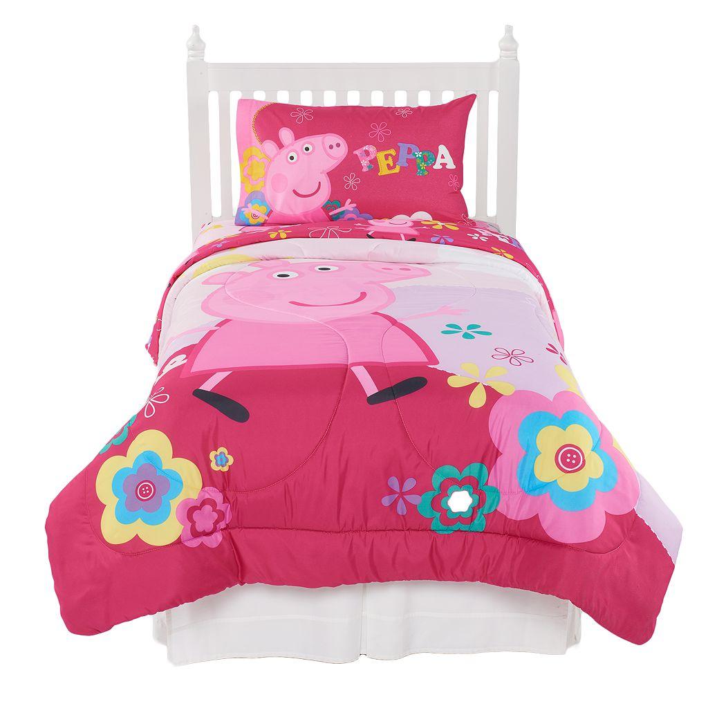 Peppa Pig Tweet Tweet Oink 4-piece Twin Comforter Set