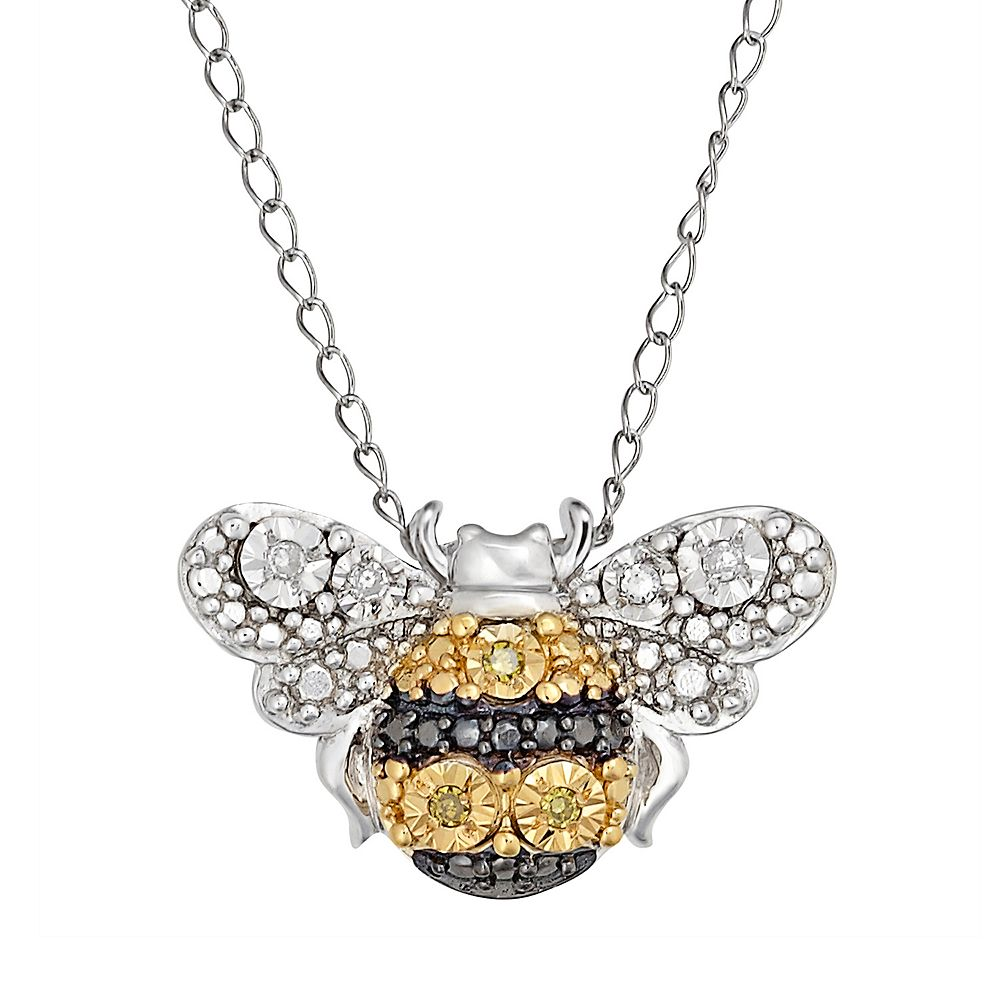 pendant plated in jewelry gold bling cz bumble silver bee necklace az pfs