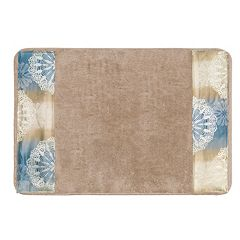 Popular Bath Fallon Banded Bath Rug