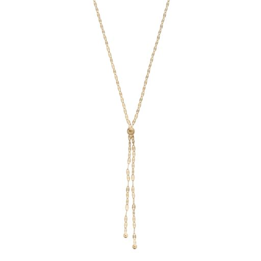 14k Gold Forzatina Chain Y Necklace