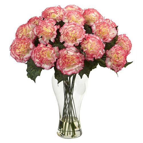 nearly natural Artificial Carnation Arrangement