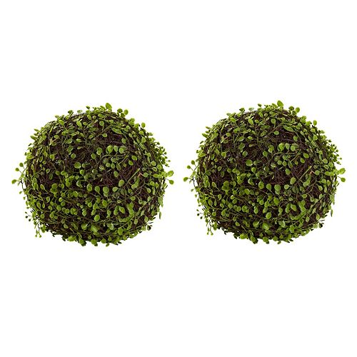 nearly natural Artificial Mohlenbechia Ball 2-piece Set
