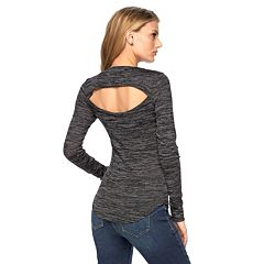 Women's Juicy Couture Space-Dye Cut-Out Top