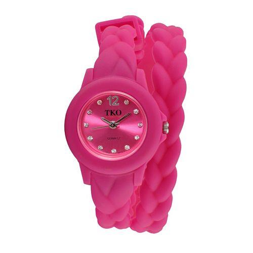 TKO Orlogi Women's Crystal Braided Wrap Watch