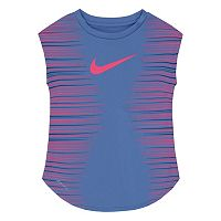 Toddler Girl Nike Dri-FIT Faded Stripe Tee