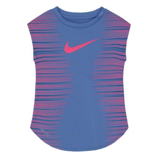 Toddler Girl Nike Dri-FIT Faded Stripe Tee