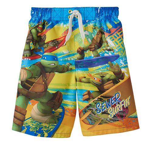 d16ded4f5c228 Boys 4-7 Teenage Mutant Ninja Turtles Swim Trunks