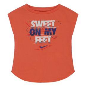 "Toddler Girl Nike ""Sweet On My Feet"" Tee"