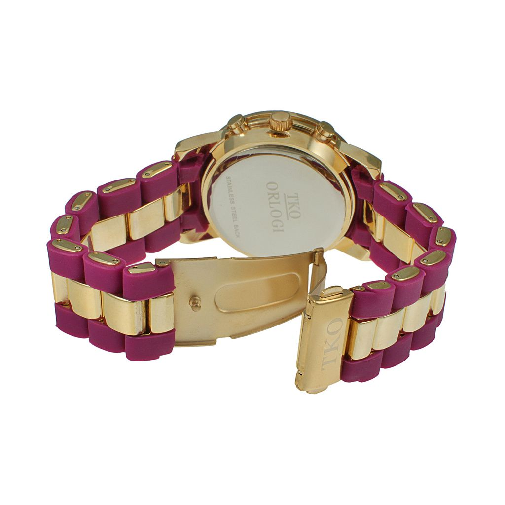 TKO Orlogi Women's Crystal Two Tone Watch