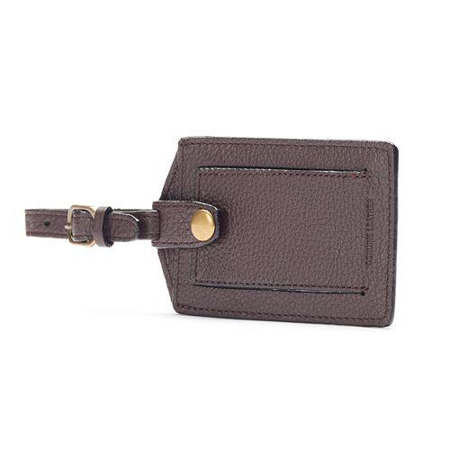 Dopp SoHo Leather Luggage Tag