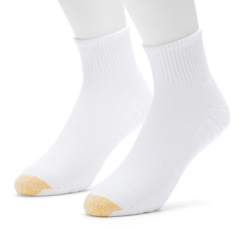 Men's GOLDTOE Soleution Golf Quarter Socks