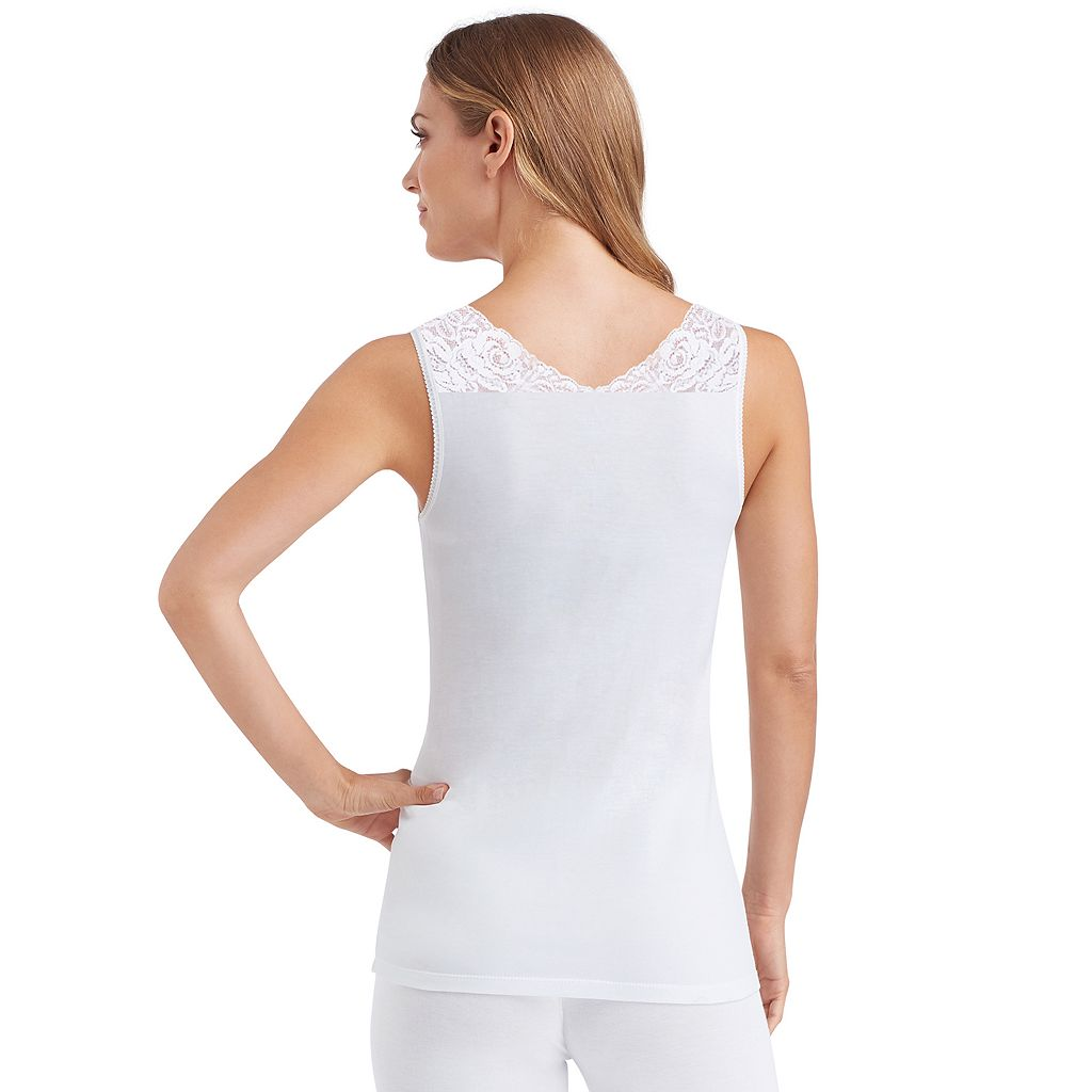 Women's Cuddl Duds SofTech Lace-Trim V-Neck Tank