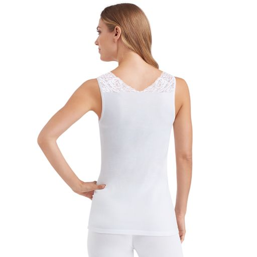 Women's Cuddl Duds SofTech Lace-Trim V-Neck Tank