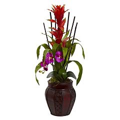 nearly natural Artificial Bromedliad & Orchid Arrangement
