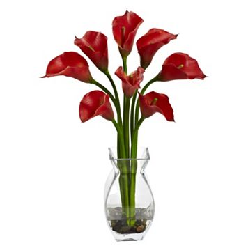 nearly natural Artificial Classic Calla Lily Arrangement