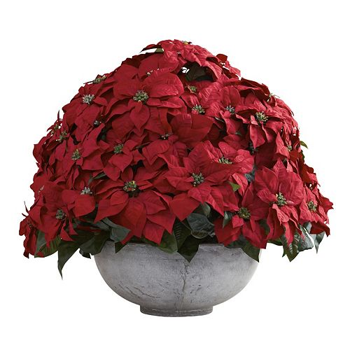 nearly natural Artificial Giant Poinsettia Arrangement