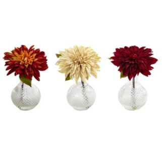 nearly natural Artificial Dahlias 3-piece set