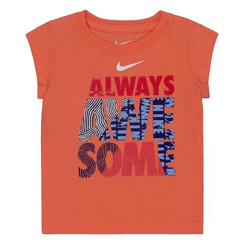 "Toddler Girl Nike ""Always Awesome"" Tee"