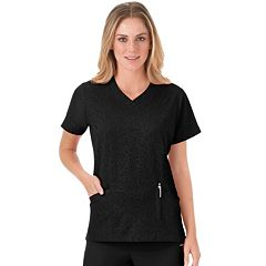 Women's Jockey Scrubs Modern Solid Illusions V-Neck Top