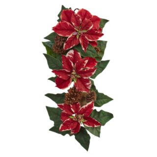 nearly natural Artificial Poinsettia Teardrop Decor