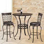 Hillsdale Furniture Brescello Bistro 3 pc Dining Set