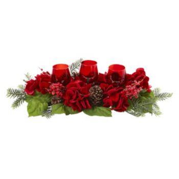 nearly natural Artificial Hydrangea Centerpiece & Candleholder