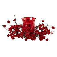 nearly natural Artificial Plum Blossom Centerpiece & Candleholder