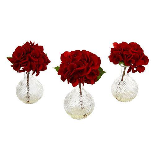 nearly natural Artificial Hydrangeas 3-piece Set
